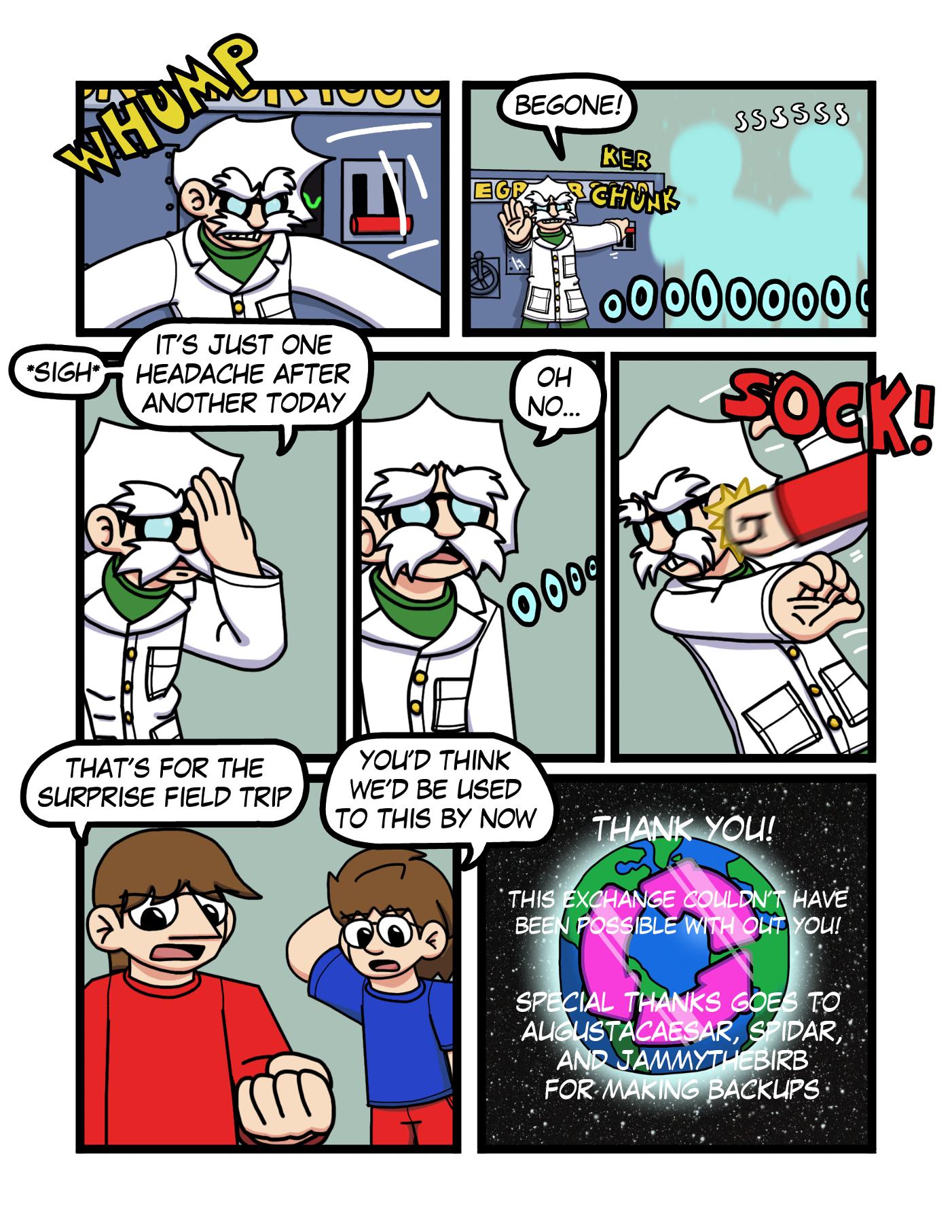 Character Swap Exchange Outro Comic