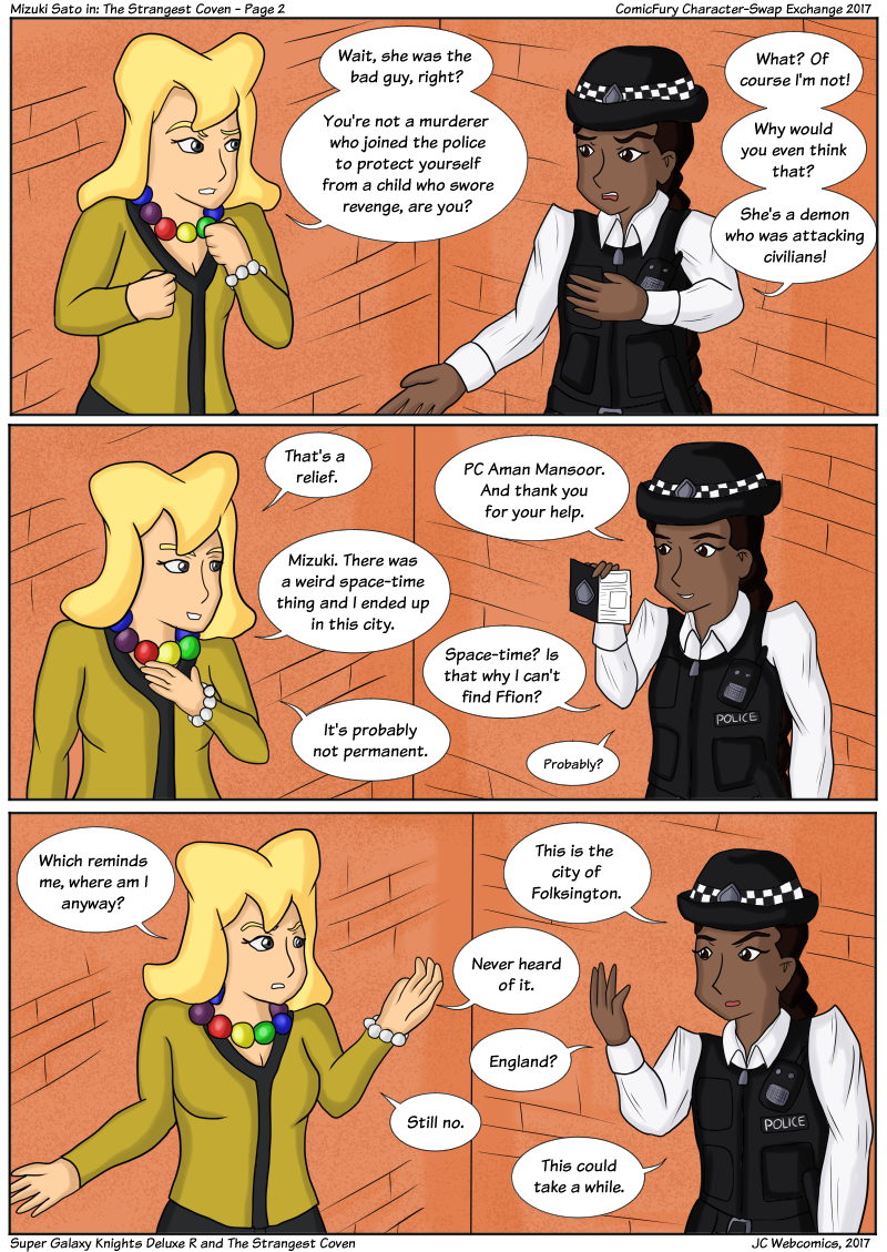 Super Galaxy Knights Deluxe R to The Strangest Coven Part 2 by JC Webcomics