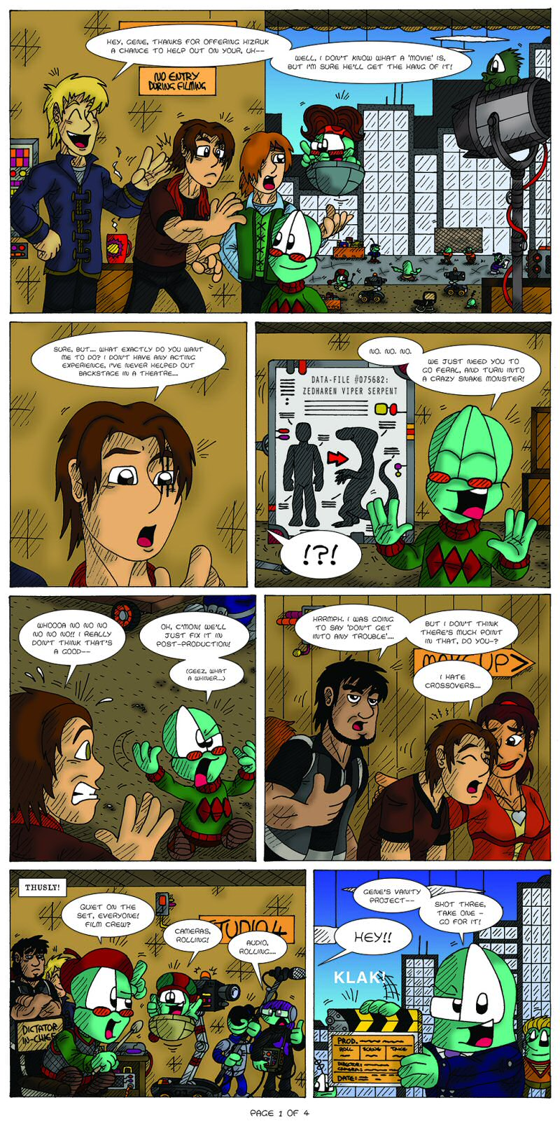 Serpents of Old Page 1 by  Cartoonist_at_Large